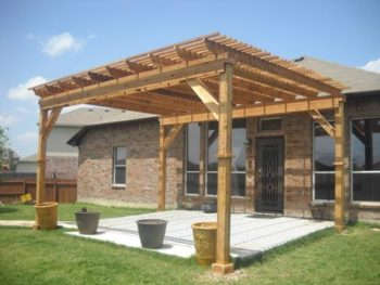 Freestanding Cedar Pergola in Tomball