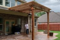 attached cedar pergola pearland tx